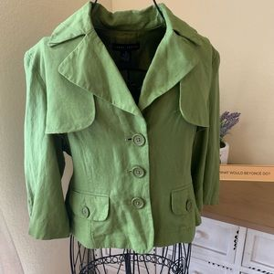 Green Small Larry Levine Blazer Jacket